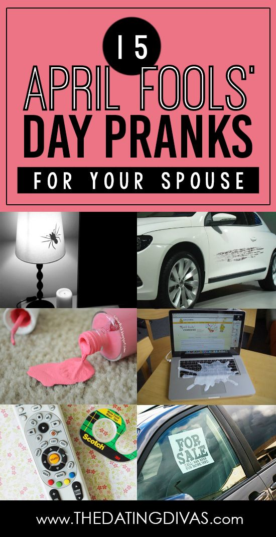 15 April Fools' Day pranks to pull on your spouse this year! www.TheDatingDivas.com