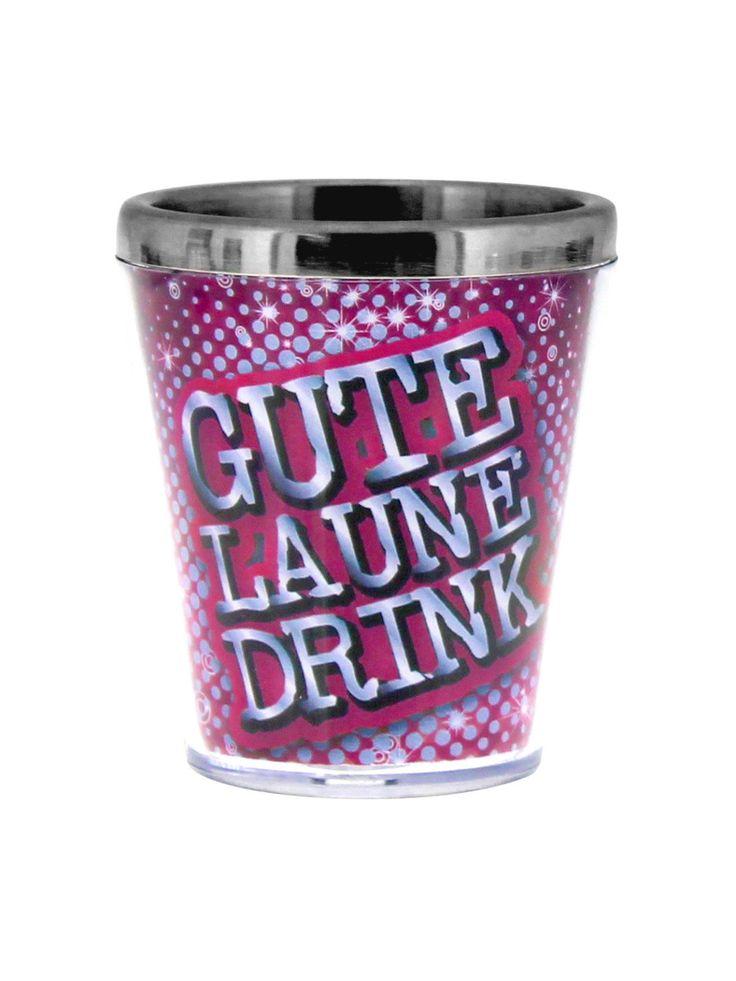 Sprüche Schnapsglas Gute Laune pink-blau-silber 40ml. Aus der Kategorie Festival Zubehör / Festival Saufzubehör. Eine gute Party fängt mit der richtigen Einstimmung an und wie könnte man sich besser auf eine unvergessliche Nacht vorbereiten als mit einem erfrischenden Gute Laune-Drink?