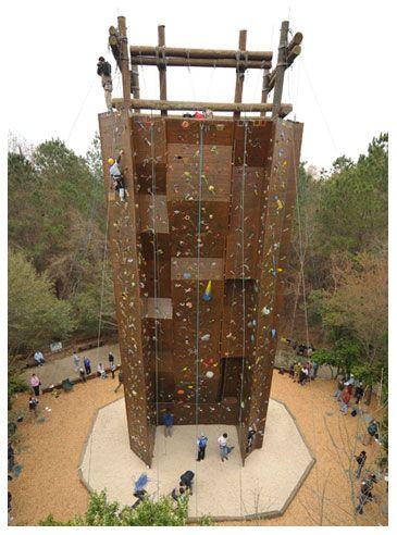 The Climbing Wall At James Island County Park Charleston Sc