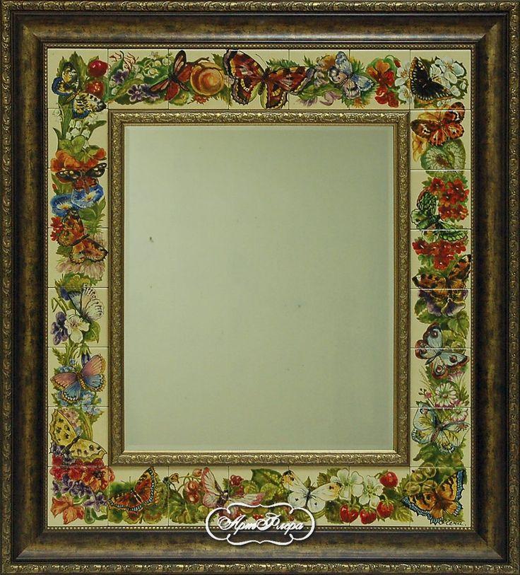 """Зеркало с фацетом """"Бабочки """" 90 х 100 см, 23 000 рублей."""