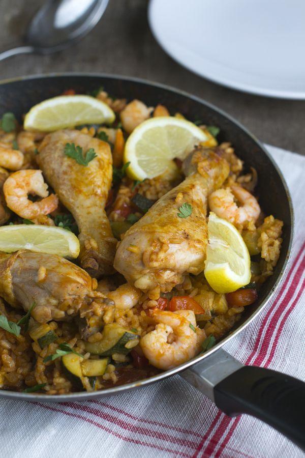 Makkelijke paella met kip