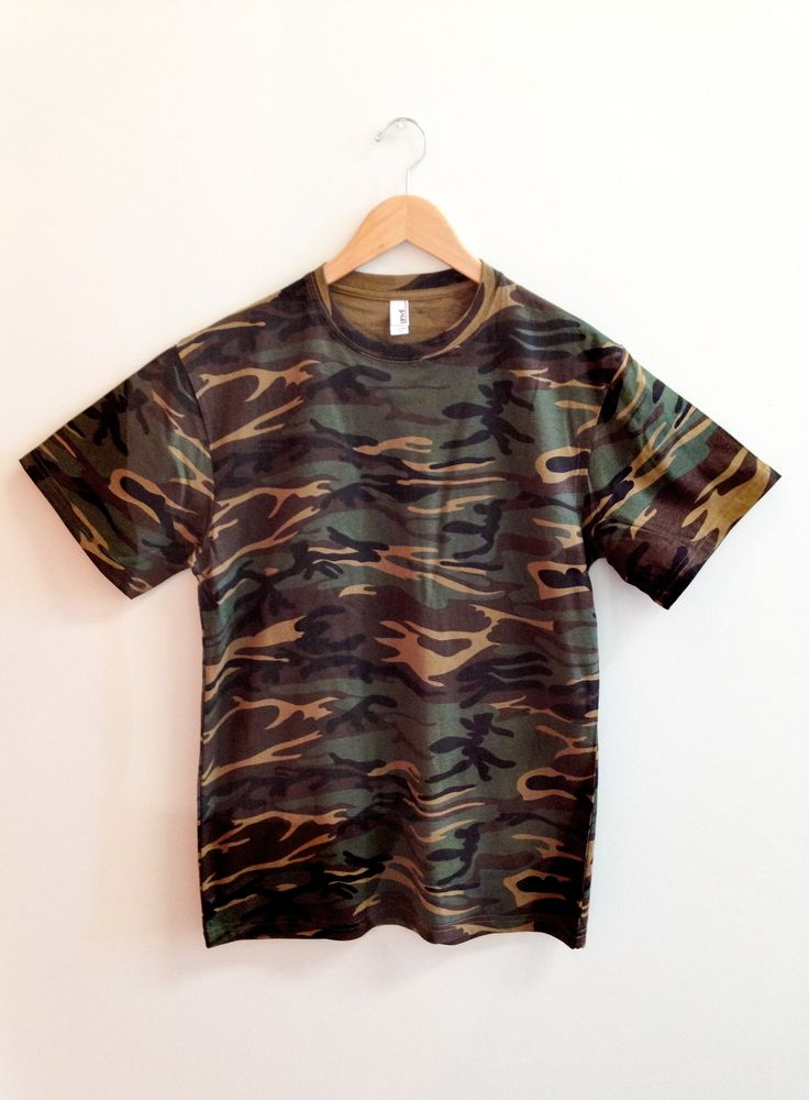 #Camo tees should definitely be on your wish list. This one is the 939 in Camouflage Green for under $10!