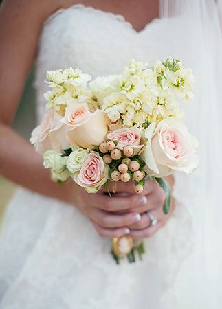 Lovely small bridal bouquet | Lauren Liddell Photography | Flowers: Chris Allums
