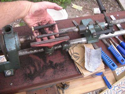 1 luthier: Sanshin - fazendo nova cravelha no torno