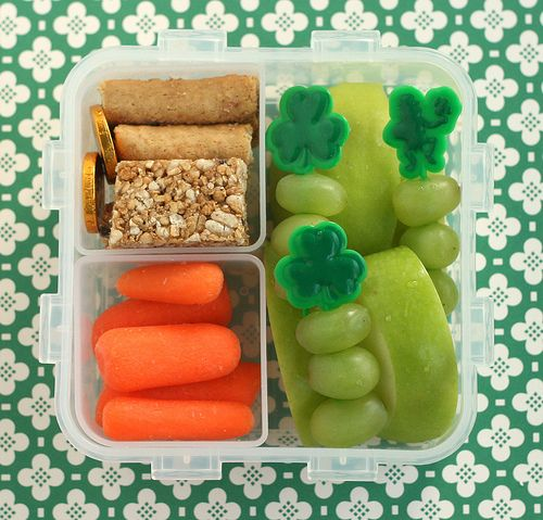 St. Patrick's DayFun Lunches, Bento Lunches, Kids Lunches, Lunches Boxes, St Patricks Day, Lunches Ideas, St Patti, For Kids Schools Lunches, Boxes Lunches