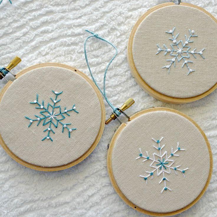 Best christmas embroidery ideas on pinterest