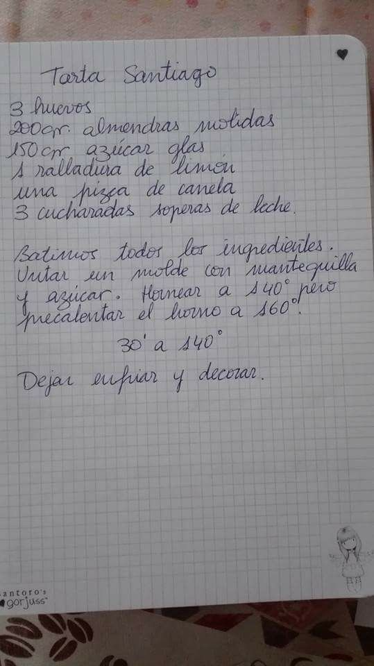 ( ^o^ ) Tarta Santiago