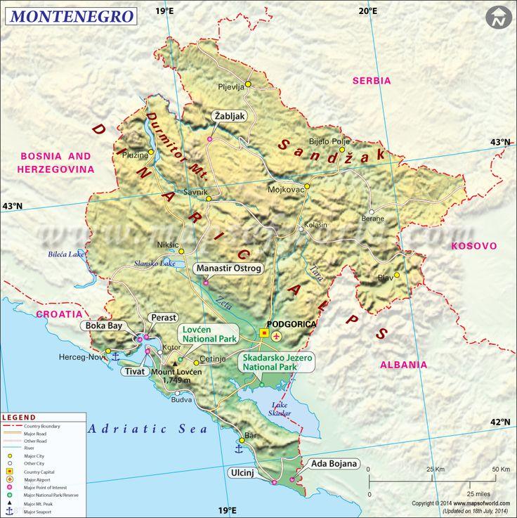 Best Map Of Montenegro Ideas On Pinterest Croatia Map Kind - Montenegro time zone map