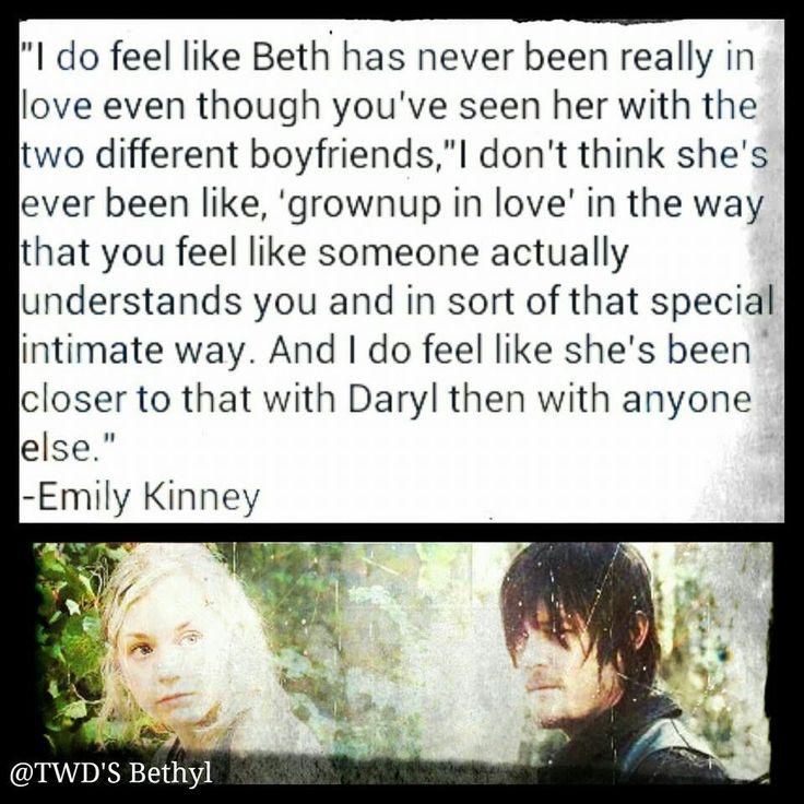 Emily on Beth's feelings