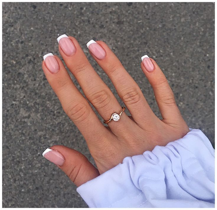 Nails #french #tip #nails #short #frenchtipnailsshort | French tip acrylic nails, French acrylic… in 2021 | French tip acrylic nails, French acrylic nails, Gel nails french