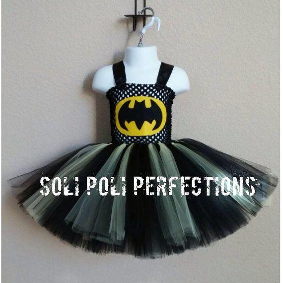 Batman Tutu Dress Batman Tutu Costume by SoliPoliPerfections