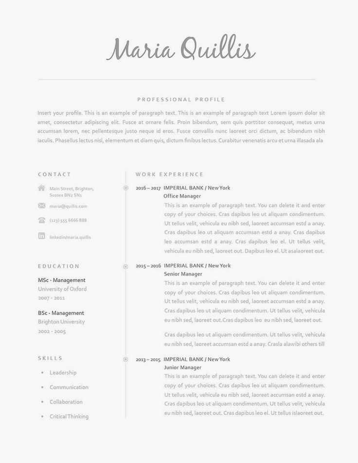 Classic Resume Template 120160 is for anyone looking to