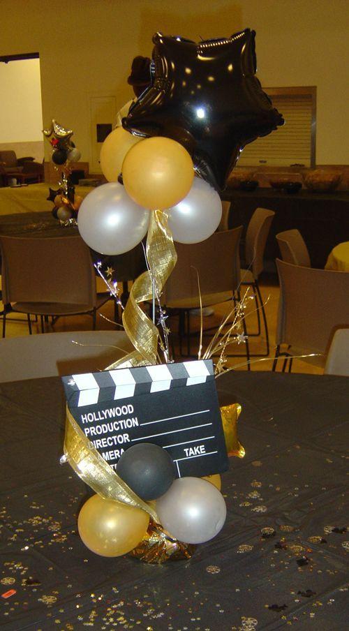 Decoração de Festa Hollywood - http://www.boloaniversario.com/decoracao-de-festa-hollywood/