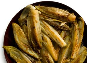 Braised Belgian Endive. I'm not impressed with this recipe, but I'm not really a fan of endives.