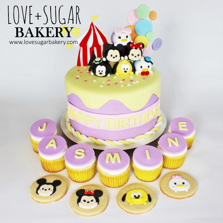 Love+Sugar Bakery's Tsum Tsum Circus Cake, Cupcakes, and Cookies