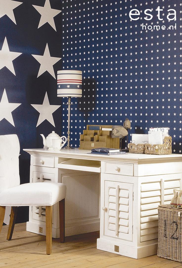Wallpaper stars navy blue