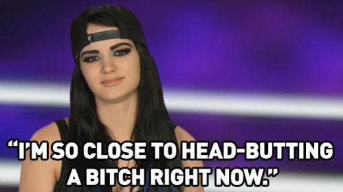 Paige on Total Divas aka current mood