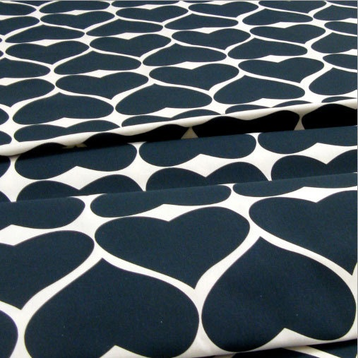 Grand Hearts fabric in Smokey Black by Umbrella Prints. Seriously lusting after this fabric.