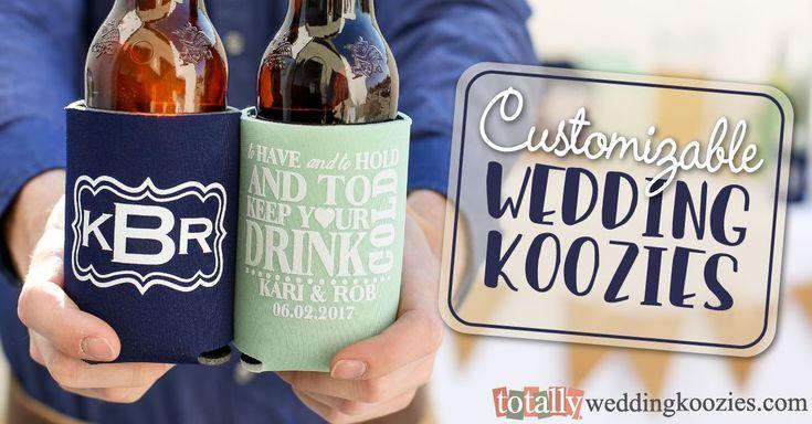 Contemporary Wedding Koozies-Wedding Koozies|TotallyWeddingKoozies.com