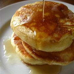 Fluffy Canadian Pancakes.  Not sure what makes them Canadian!?