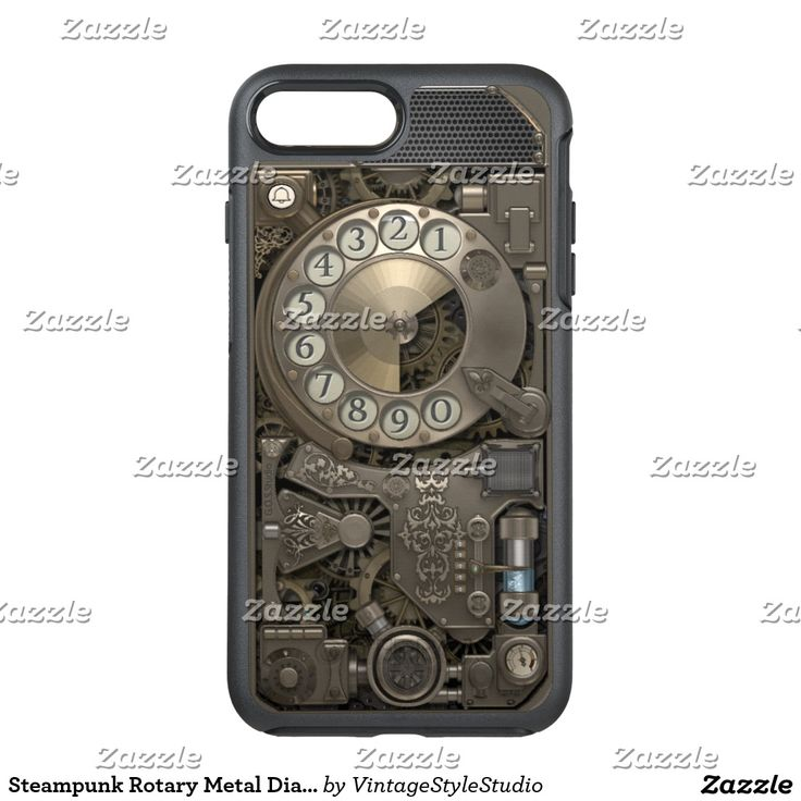 Steampunk Rotary Metal Dial Phone. OtterBox Symmetry iPhone 7 Plus Case