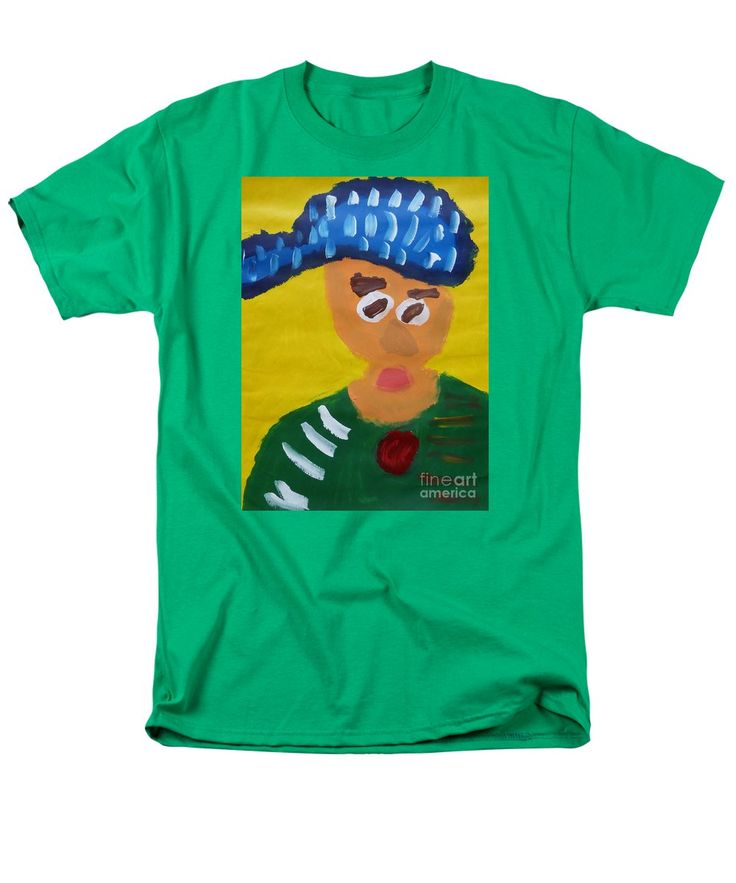 Patrick Kelly Green T-Shirt featuring the painting Portrait Of Camille Roulin 2015 - After Vincent Van Gogh by Patrick Francis