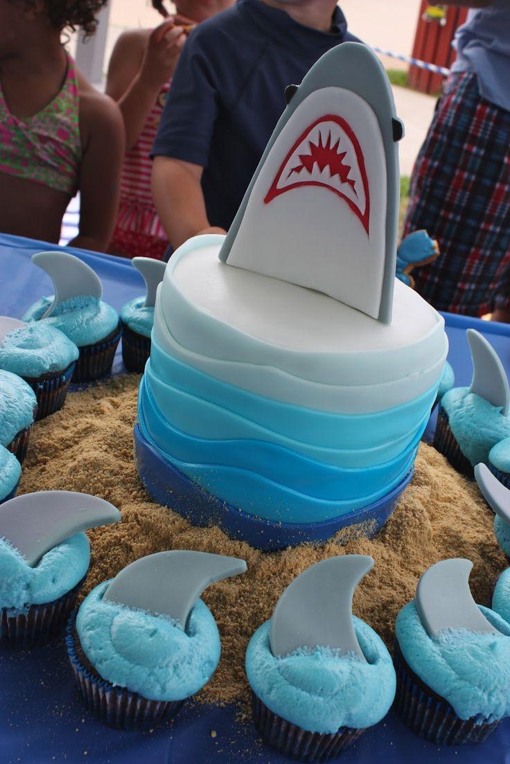 40 Best Shark Birthday Party Ideas Images On Pinterest