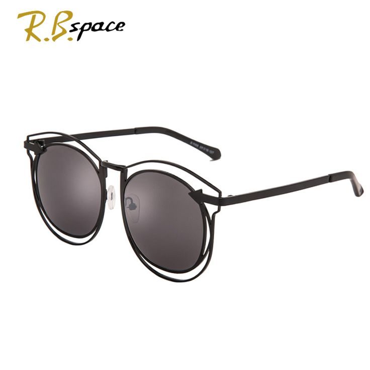 c408627af9416 New ladies big frame sunglasses trend polarized glasses female hollow  design round frame Europe and the