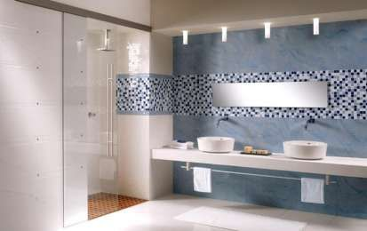 Bagni a mosaico, foto dei più colorati ed eleganti - Bagni mosaico blu