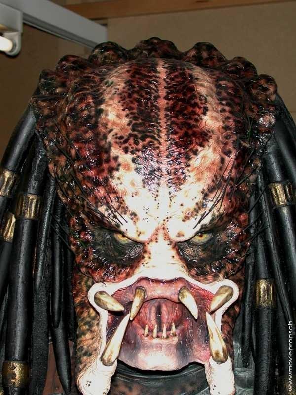 Predator (1987) movie props Rare lifesize Predator Bust ...