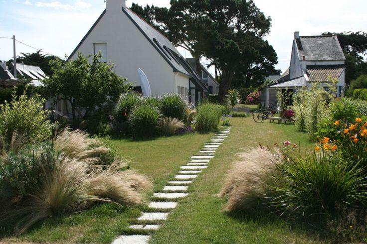 Cr a paysage jardin de bord de mer avec pas japonais for Crea paysage