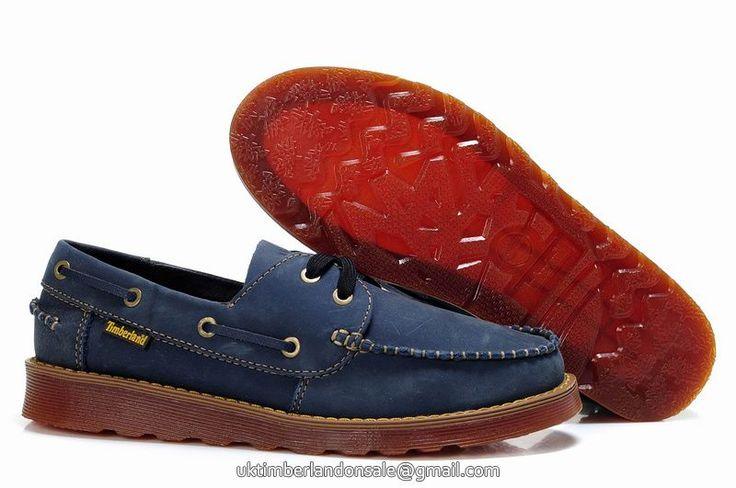 UK New Timberland Men Icon 2-Eye Rubber-Sole Boat Shoe Navy-Blue £ 68.79