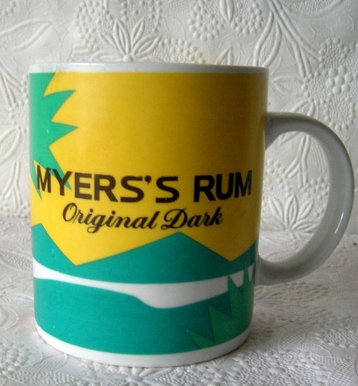 Myers Rum Original Dark Coffee Mug Cup  beach scene with palm trees #MyersRum