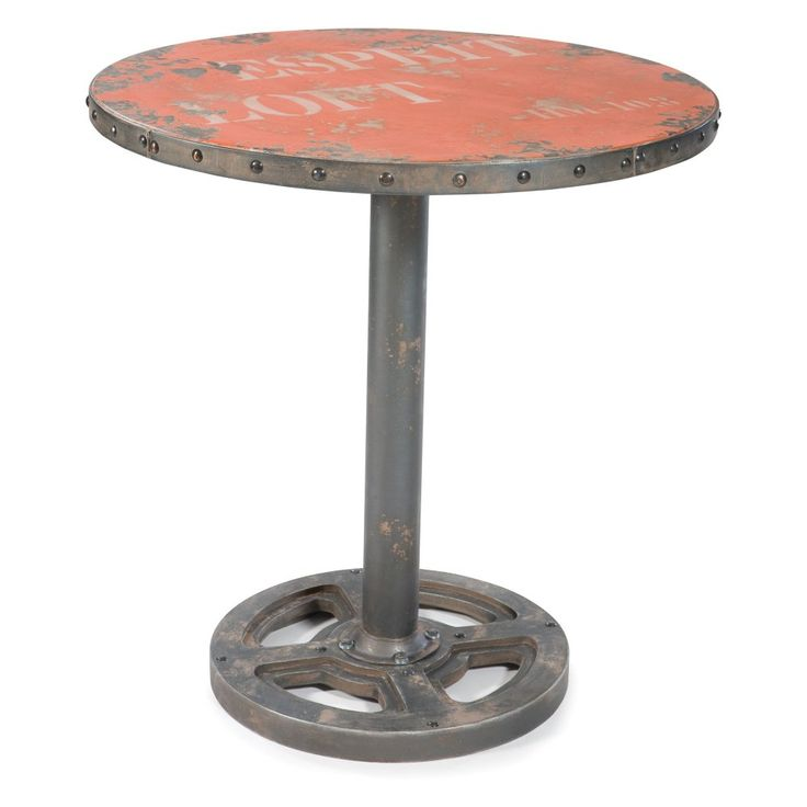 Moes Home Collection Wheel Round Pub Table - A stunning industrial-style…