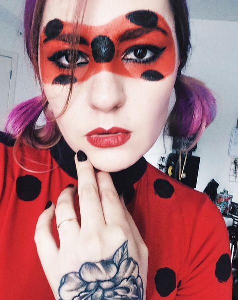 Lady Bug for Youtube Channel DIY Talita Sampaio #ladybug #miraculous #miraculousladybug #catnoir #halloween #costumes #fantasia #cosplay #lookbook #cosplaygirl