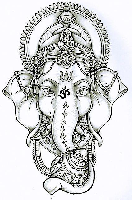 Ganesha me dará éxito y destruirá los obstáculos tanto materiales como espirituales. En el ante brazo, decidido !