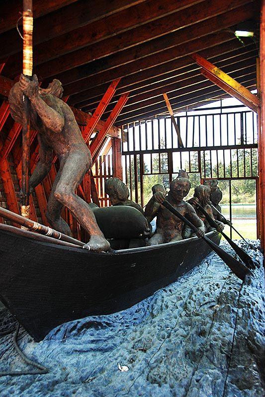 Whaling Canoe at Victoria Quay, Port Alberni, Alberni Valley, Vancouver Island, British Columbia