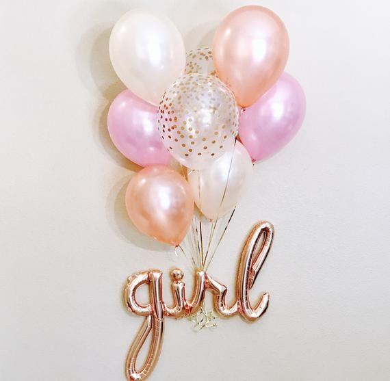 Rose Gold Girl Balloon, Girl Script Balloon, Girl Balloon, Rose Gold Girl, Rose Gold Girl Script, Rose Gold baby Girl Shower