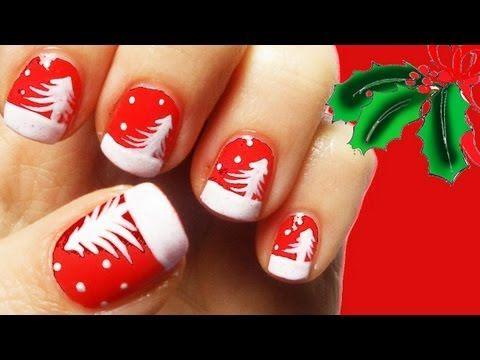 Christmas Nail Art tutorial ft.Maddinafashion
