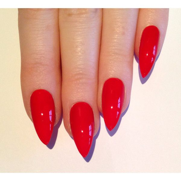 Red Stiletto nails, Nail designs, Nail art, Nails, Stiletto nails,... (£13) ❤ liked on Polyvore featuring beauty products, nail care, nail treatments, nails, makeup, beauty and unhas