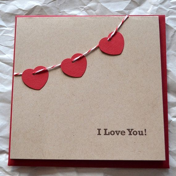 St. Valentines Card - I Love You - Yarisi - Etsy