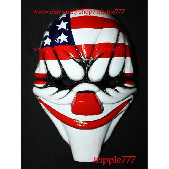 Payday mask, Payday dallas mask, Payday costume, Payday The Heist 2, Halloween mask, Halloween costume, Payday game, Halloween cosplay MA160 on Etsy, $119.00