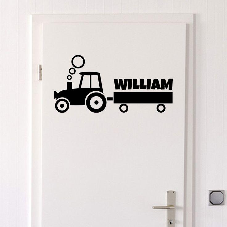 Köp Traktor med namn (välj själv namn) väggdekor - från endast 187 kr ★ Marknadens bästa kvalitet ★ Egen produktion ★ 365 dagars returrätt ★ Snabbleverans ★
