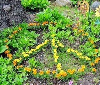 Pretty peace garden  pattern.