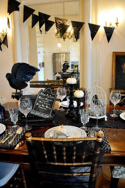 edgar allen poe the raven dinner halloween raven decorationshalloween - Raven Halloween Decorations