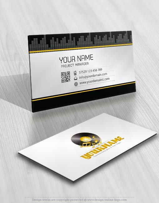 Exclusive Design DJ Music Logo Compatible FREE Business Card