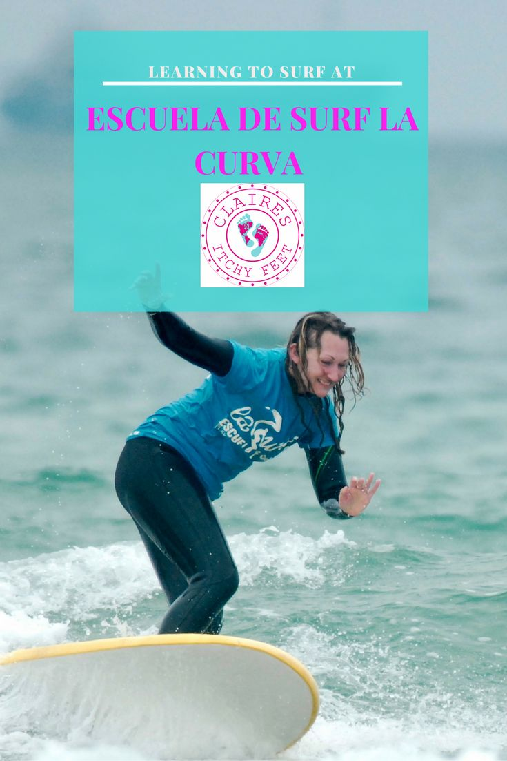 Thinking of taking a surf holiday? When searching for a place to learn to surf I found a website with information about international surf camps and quickly decided Spain sounded perfect. Read on to find out about my experience learning to Surf at Escuela de Surf La Curva in Spain. Visit Spain | Surf Vacation | Surfing Holiday | Learn to Surf
