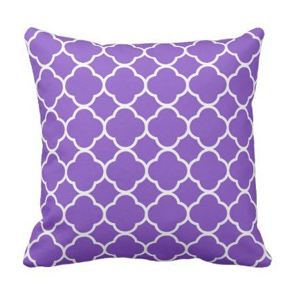 Fiona Purple Throw Pillow - individual customized unique ideas designs custom gift ideas