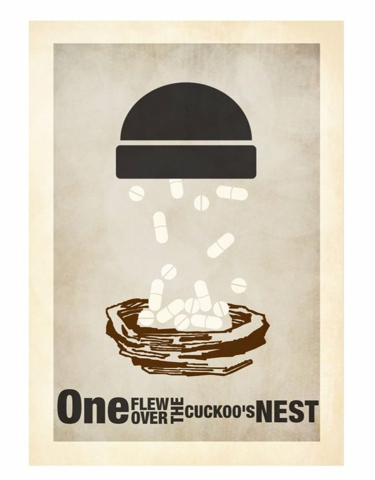 One Flew Over the Cuckoo's Nest (1975) ~ Minimal Movie Poster by David Peacock