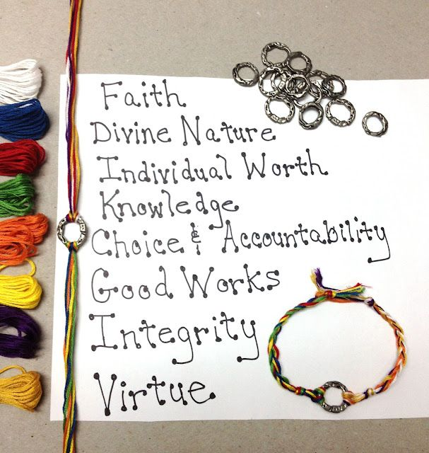 YW Values Bracelet tutorial - sweet and simple - 30 minute project